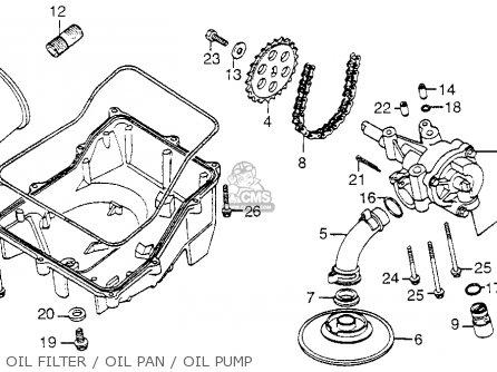 Honda Vf1100c Magna 1983 d Usa Oil Filter   Oil Pan   Oil Pump