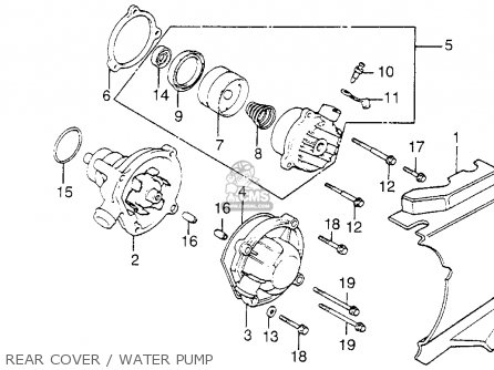 Honda Vf1100c Magna 1983 d Usa Rear Cover   Water Pump