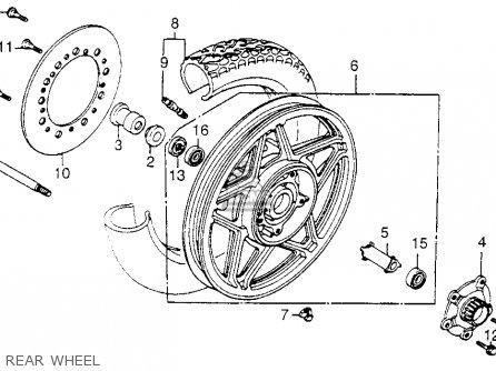 Honda Vf1100c Magna 1983 d Usa Rear Wheel