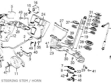 Honda Vf1100c Magna 1983 d Usa Steering Stem   Horn