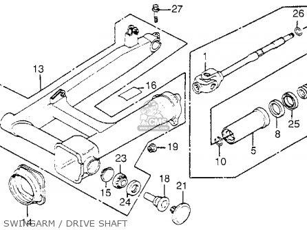 Honda Vf1100c Magna 1983 d Usa Swingarm   Drive Shaft
