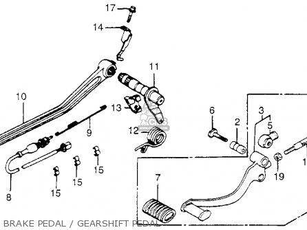 Honda Vf1100c V65 Magna 1983 d Usa Brake Pedal   Gearshift Pedal