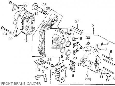 Honda Vf1100c V65 Magna 1983 d Usa Front Brake Caliper