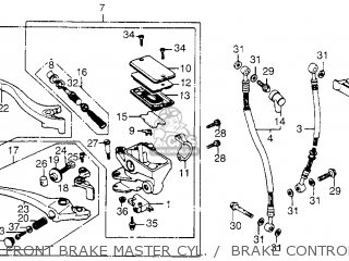 Honda Vf1100c V65 Magna 1983 d Usa Front Brake Master Cyl     Brake Control Lever