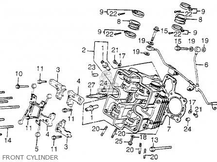 Honda Vf1100c V65 Magna 1983 d Usa Front Cylinder