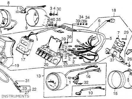 Honda Vf1100c V65 Magna 1983 d Usa Instruments