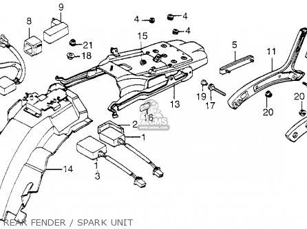 Honda Vf1100c V65 Magna 1983 d Usa Rear Fender   Spark Unit