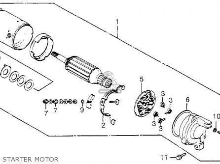 Honda Vf1100c V65 Magna 1983 d Usa Starter Motor