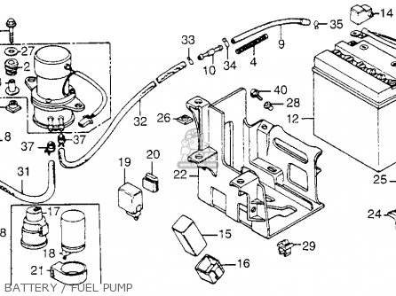 Suzuki Intruder Fuel Pump on honda atv diagrams