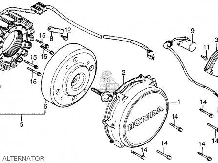 Honda Vf1100s Sabre 1984 e Usa Alternator