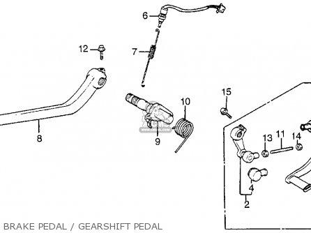 Honda Vf1100s Sabre 1984 e Usa California Brake Pedal   Gearshift Pedal