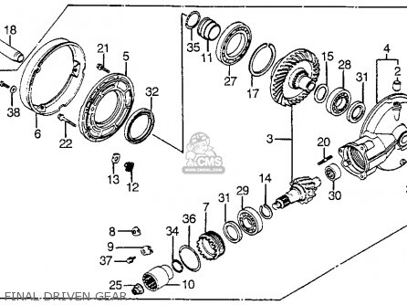 Honda Vf1100s Sabre 1984 e Usa California Final Driven Gear