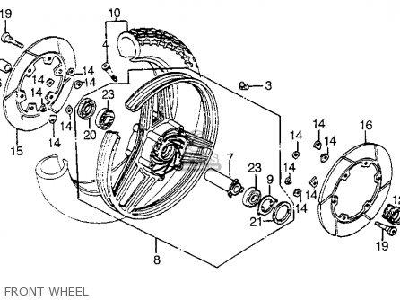 Honda Vf1100s Sabre 1984 e Usa California Front Wheel