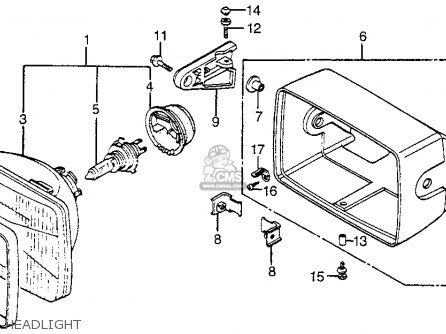 Honda Vf1100s Sabre 1984 e Usa California Headlight