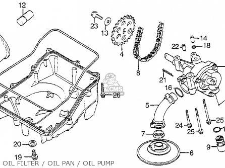 Honda Vf1100s Sabre 1984 e Usa California Oil Filter   Oil Pan   Oil Pump