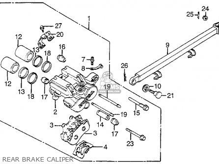 Honda Vf1100s Sabre 1984 e Usa California Rear Brake Caliper