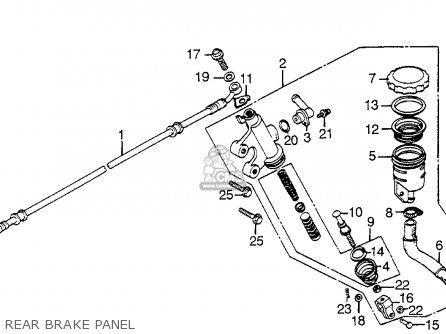 Honda Vf1100s Sabre 1984 e Usa California Rear Brake Panel