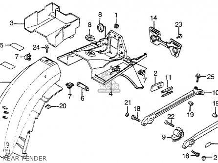 Honda Vf1100s Sabre 1984 e Usa California Rear Fender