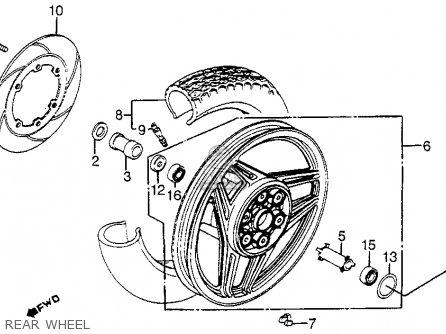 Honda Vf1100s Sabre 1984 e Usa California Rear Wheel