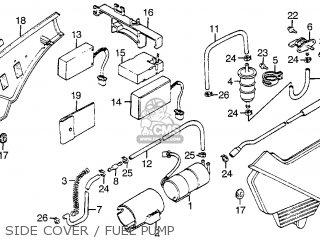 Honda Vf1100s Sabre 1984 e Usa California Side Cover   Fuel Pump