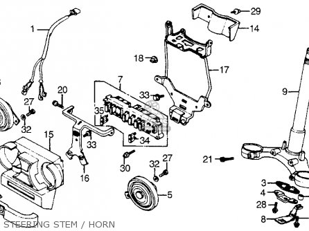 Honda Vf1100s Sabre 1984 e Usa California Steering Stem   Horn