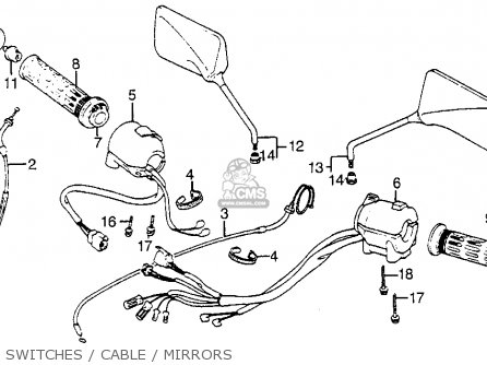 Honda Vf1100s Sabre 1984 e Usa California Switches   Cable   Mirrors
