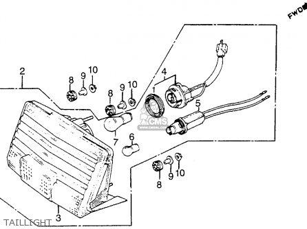 Honda Vf1100s Sabre 1984 e Usa California Taillight