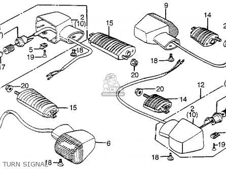 Honda Vf1100s Sabre 1984 e Usa California Turn Signal