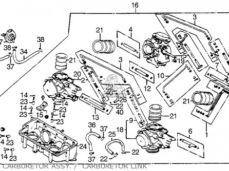 Honda Vf1100s Sabre 1984 e Usa Carburetor Assy     Carburetor Link