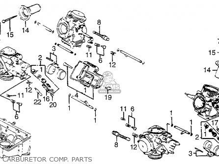 Honda Vf1100s Sabre 1984 e Usa Carburetor Comp  Parts