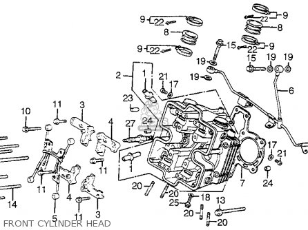 Honda Vf1100s Sabre 1984 e Usa Front Cylinder Head