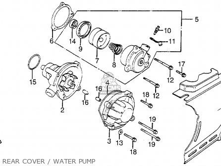 Honda Vf1100s Sabre 1984 e Usa Rear Cover   Water Pump