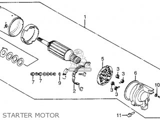 Honda Vf1100s Sabre 1984 e Usa Starter Motor