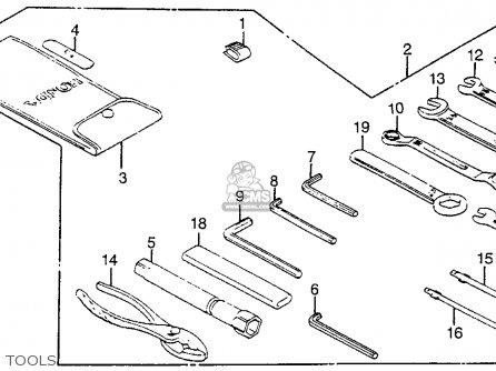 Honda Vf1100s Sabre 1984 e Usa Tools