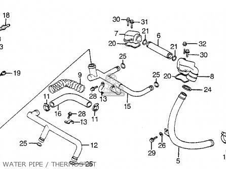 Honda Vf1100s Sabre 1984 e Usa Water Pipe   Thermostat