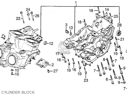 Honda Vf1100s V65 Sabre 1984 Usa Cylinder Block