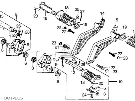 Honda Vf1100s V65 Sabre 1984 Usa Footpegs