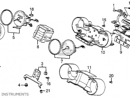 Honda Vf1100s V65 Sabre 1984 Usa Instruments