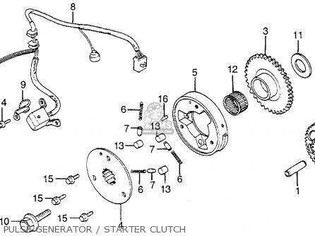 Honda Vf1100s V65 Sabre 1984 Usa Pulse Generator   Starter Clutch