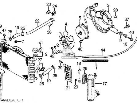 Honda Vf1100s V65 Sabre 1984 Usa Radiator