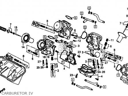 Honda Vf500f 500 Interceptor 1986 g Usa Carburetor Iv