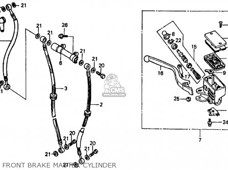 Honda Vf500f 500 Interceptor 1986 g Usa Front Brake Master Cylinder