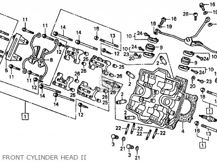 Honda Vf500f 500 Interceptor 1986 g Usa Front Cylinder Head Ii