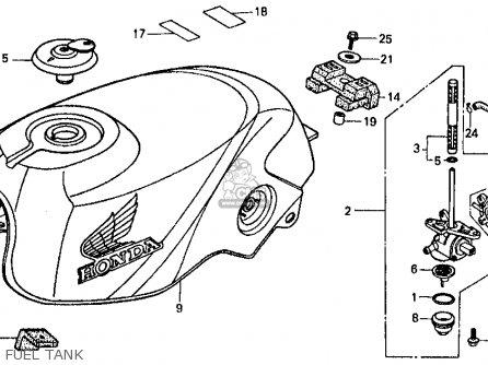 Honda Vf500f 500 Interceptor 1986 g Usa Fuel Tank