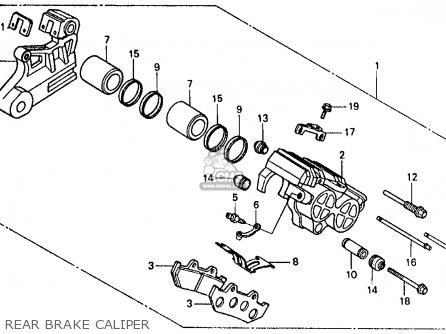 Honda Vf500f 500 Interceptor 1986 g Usa Rear Brake Caliper