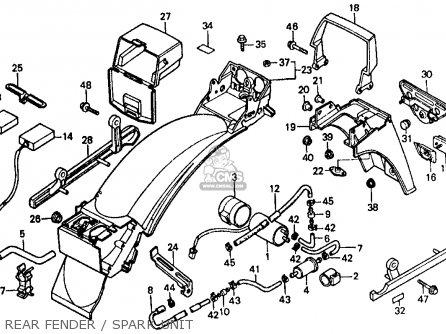 Honda Vf500f 500 Interceptor 1986 g Usa Rear Fender   Spark Unit