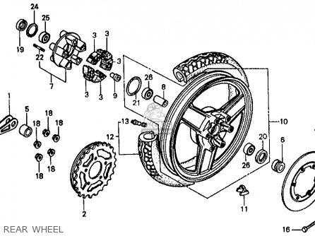 Honda Vf500f 500 Interceptor 1986 g Usa Rear Wheel
