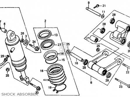 Honda Vf500f 500 Interceptor 1986 g Usa Shock Absorber