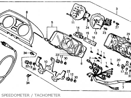 Honda Vf500f 500 Interceptor 1986 g Usa Speedometer   Tachometer