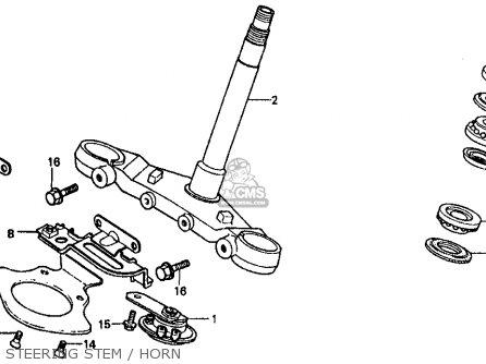 Honda Vf500f 500 Interceptor 1986 g Usa Steering Stem   Horn